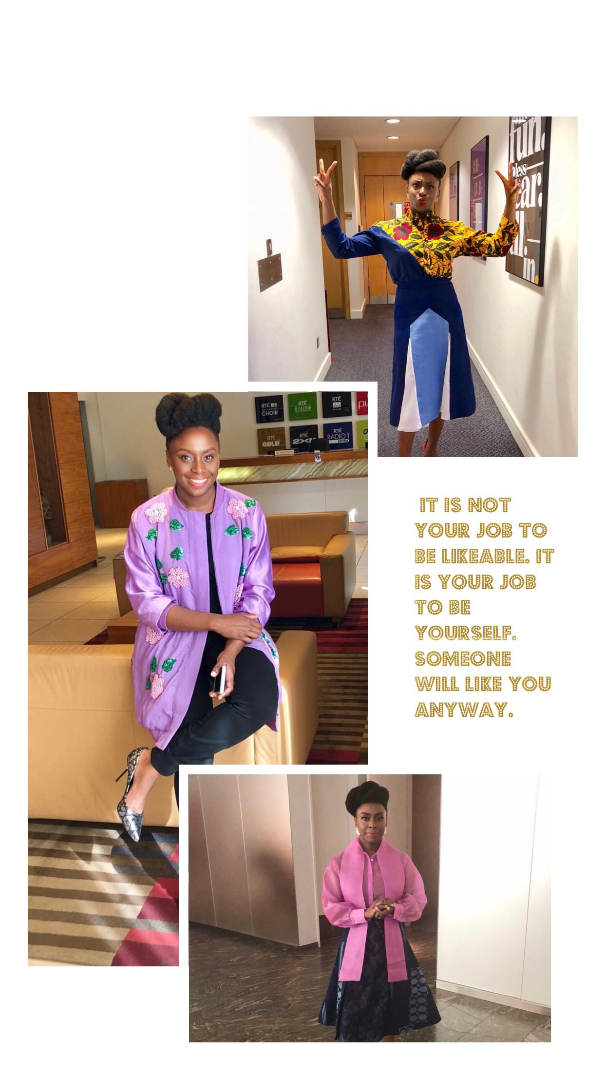Chimamanda Adichie, Author, Quote on Being Yourself