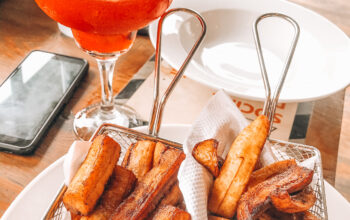 Strawberry Daiquiri and Fried Plantain at Papiee's meatro lagos